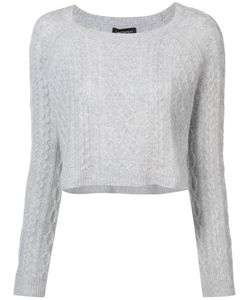THE PERFEXT | Theperfext Cropped Cable Knit Sweater Medium