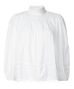 A PIECE APART   Apiece Apart Lace Trim Pleated Top 4 Cotton