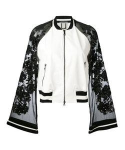 Aviù | Sheer Sleeves Bomber Jacket