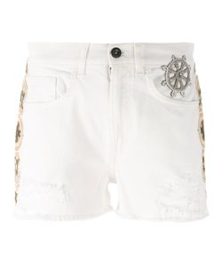 MR & MRS Italy | Embellished Denim Shorts