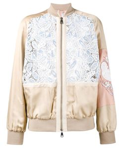 No21 | Macrame Lace Bomber Jacket 38 Viscose/Polyester/Cotton