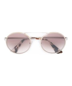 Prada Eyewear   Round Cinema Sunglasses Metal/Acetate