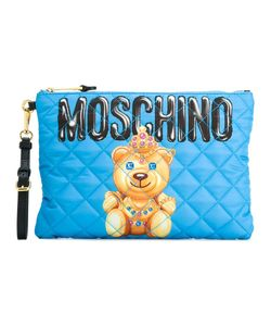 Moschino   Crowned Bear Clutch Polyester