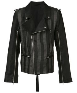 Ann Demeulemeester | Crawford Biker Jacket Large Linen/Flax/Polyester
