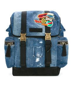 Dsquared2 | Patch Distressed Denim Backpack Cotton/Polyester/Metal