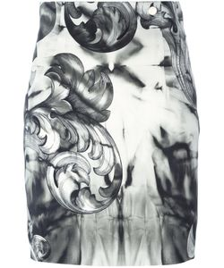 Versace Collection | Printed Mini Pencil Skirt 40 Viscose/Spandex/Elastane/Polyester
