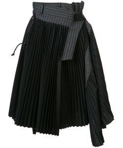 Sacai | Asymmetric Pleated Skirt Size