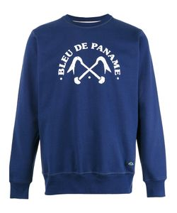 Bleu De Paname | Logo Print Sweatshirt Size Large