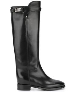 Santoni | Knee Length Boots 37 Leather/Rubber