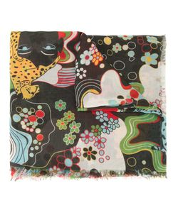 Mary Katrantzou | Psychedelic Print Scarf Cashmere/Modal