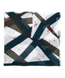 Faliero Sarti | Plaid Paint Pattern Scarf