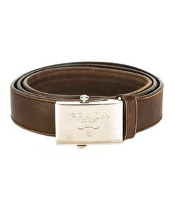 PRADA VINTAGE | Logo Buckle Belt Adult Unisex 85