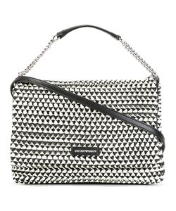 Emporio Armani | Contrast Texture Shoulder Bag Polyester/Polyurethane/Cotton