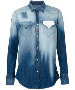 Dsquared2 | Джинсовая Рубашка С Градиентным Эффектом