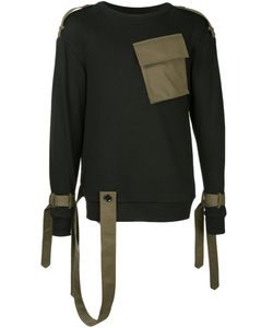 Consistence   Trench Style Belted Sweatshirt Men