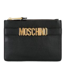 Moschino | Logo Strap Clutch Calf Leather