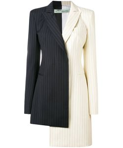 OFF-WHITE | Pinstripe Asymmetric Blazer Dress