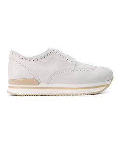 Hogan | Perforated Detail Platform Sneakers Size 35