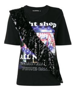 Filles A Papa | Night Shop T-Shirt With Sequin Frill