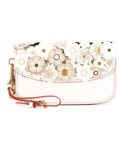 COACH | Flower Embellished Clutch Bag Leather