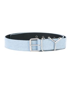 Y / PROJECT   Logo Buckled Belt
