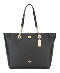 COACH | Turnlock Chain Tote Calf Leather/Polyester/Metal