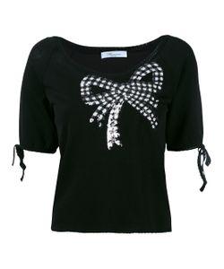 Blumarine   Sequin Embellished Shortsleeved Sweater