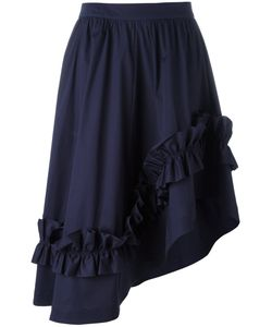 Cedric Charlier | Cédric Charlier Asymmetric Ruffle-Trim Skirt 42 Cotton/Other Fibers