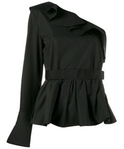 Fendi   Ruffle-Trimmed One Sleeve Top 42 Cotton