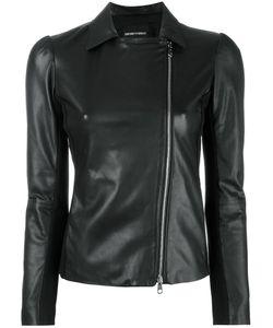 Emporio Armani | Zip Up Jacket 44 Lamb Skin/Viscose/Spandex/Elastane/Spandex/Elastane