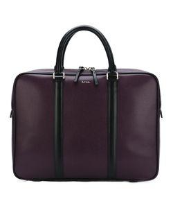 PAUL SMITH LONDON | Printed Logo Laptop Bag Leather