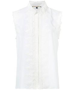 Kobi Halperin | Lace Embellished Sleeveless Shirt Large Silk
