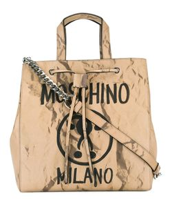 Moschino | Question Mark Print Shoulder Bag Calf Leather/Metal Other