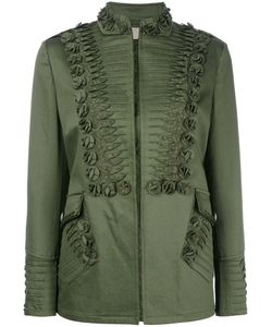 Ermanno Scervino | Embroidery Detail Jacket 44 Cotton/Lyocell/Polyamide/Spandex/Elastane
