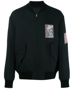 Alexander Wang | Patch Detailed Bomber Jacket 46 Silk/Acrylic/Polyester/Viscose