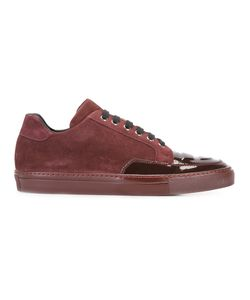 Alejandro Ingelmo | Panelled Sneakers 40 Calf Suede/Leather/Patent Leather/Rubber