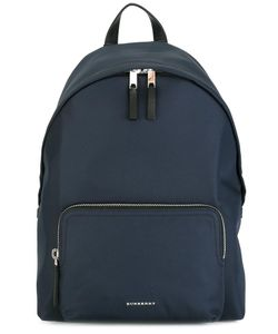 Burberry | Logo Plaque Plain Backpack Nylon/Leather/Polyester