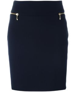 Versace Collection | Zipped Pockets Pencil Skirt 40 Viscose/Polyester/Cotton