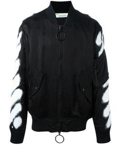 OFF-WHITE | Spray Bomber Jacket Small Cupro/Viscose/Polyester