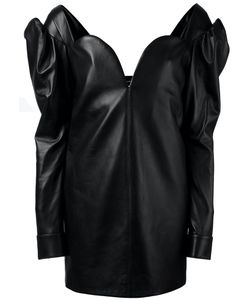 Saint Laurent | Sweetheart Leather Mini Dress Size 36 Lamb