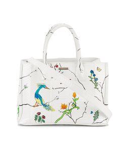 Elisabeth Weinstock | Bird Print Shoulder Bag Leather/Watersnake