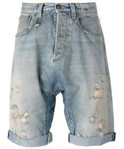 R13   Ripped Denim Shorts Size 29