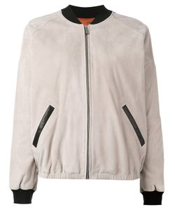 Barbara Bui | Leather Bomber Jacket 36 Goat Skin/Rayon/Silk/Viscose