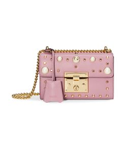 Gucci | Padlock Studded Leather Shoulder Bag