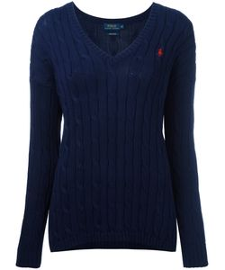 Polo Ralph Lauren   Cable Knit V-Neck Jumper Size Medium