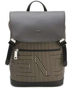 Fendi | Striped Drawstring Backpack