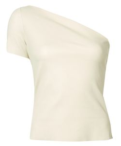 Helmut Lang | One-Shoulder Top Medium Lamb Skin