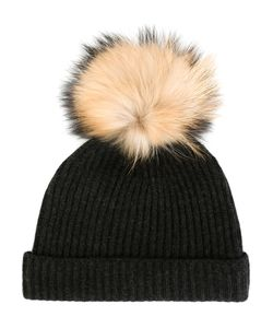 N.PEAL | Detachable Pompom Ribbed Hat Women