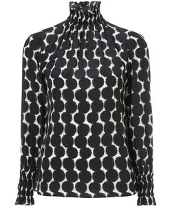 Akris Punto | Gathered Printed Blouse Women