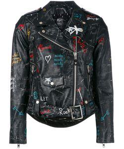 HTC Hollywood Trading Company   Байкерская Куртка С Узором В Стиле Граффити